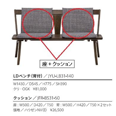 第一産業高山本店 悠ベンチ専用座+背クッションのみJFR-BS31-50(2セット組)49柄対応(ランクによって価格が変わります)送料無料(沖縄、北海道、離島は除く)