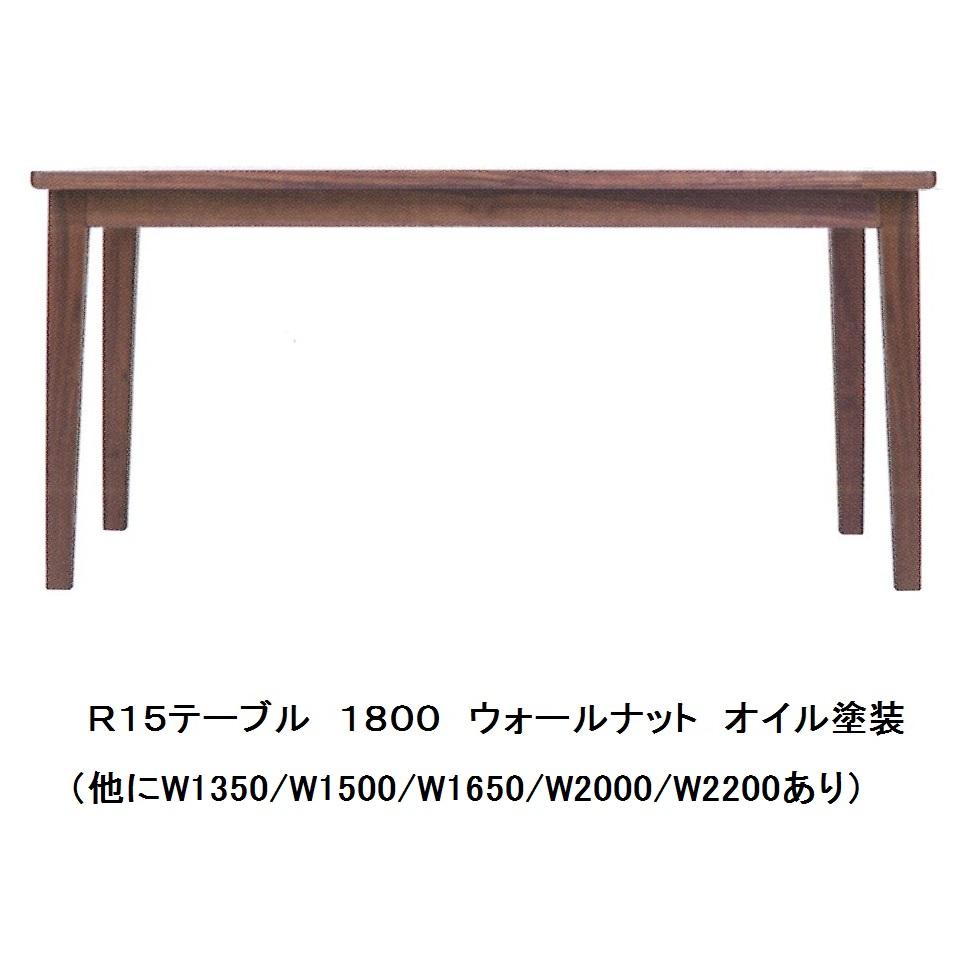 最新発見 飛騨高山 木馬舎R15 長方形テーブル 1800 幅6サイズの大きさに対応素材ウォールナット受注生産につき、注文後の変更・キャンセル送料無料(玄関前配送)沖縄・北海道・離島は除く, SOAR(そあ)ショップ:e276aae9 --- criancafelizbrinquedos.com.br