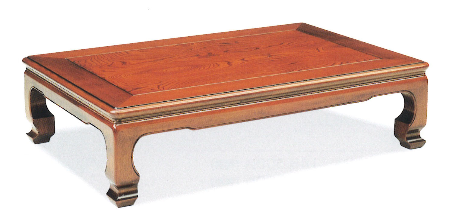 座卓 135 華月 ケヤキ硬質ウレタン仕上げ送料無料(沖縄、北海道、離島は除く)代金引換不可商品