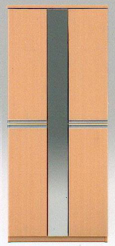 75Hシューズボード  ジータ 棚板は洗える樹脂製 ミラー付2色対応(ナチュラル色/ブラウン色)欠品の場合有り、要在庫確認