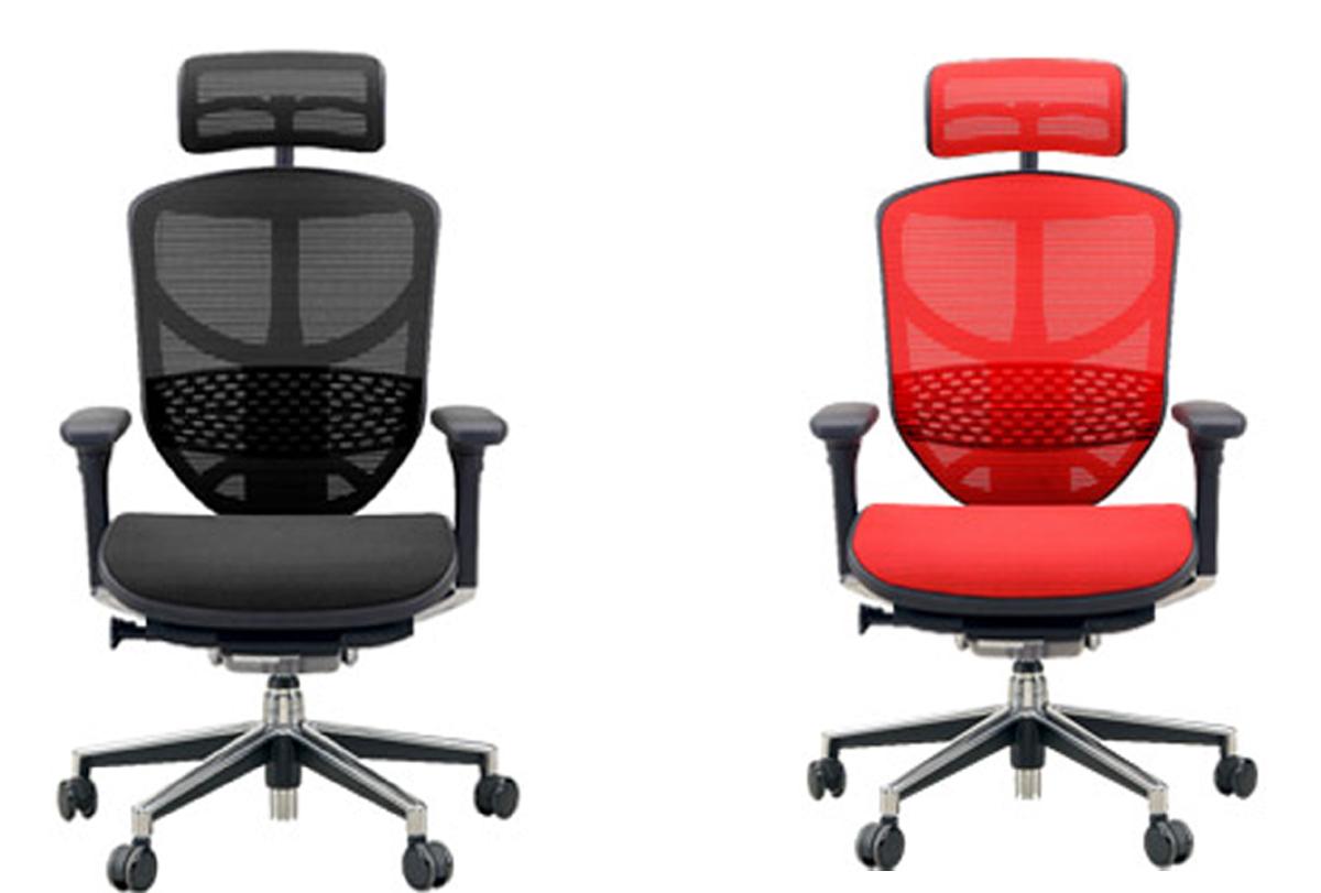 オフィスチェアー エルゴヒューマンエンジョイH 3dファブリック、エラストメリックメッシュ全12色対応[送料無料] (北海道・沖縄・離島は除く)代引きはできません