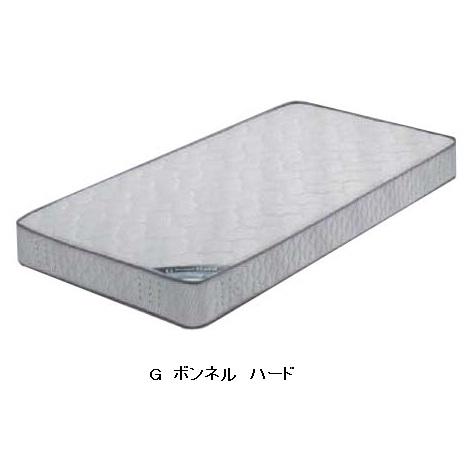 Granz(グランツ)セミダブルマット Gボンネル ハードつづみ型バネ、線径:2.3mm 色:グレー