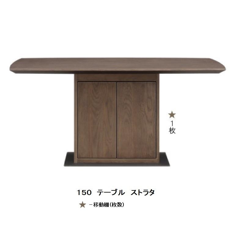 シギヤマ家具製 150 ダイニングテーブル ストラタ天板:ホワイトオーク突板ウレタン塗装脚部:鉄プレート送料無料(玄関前まで)北海道・沖縄・離島は除く要在庫確認。