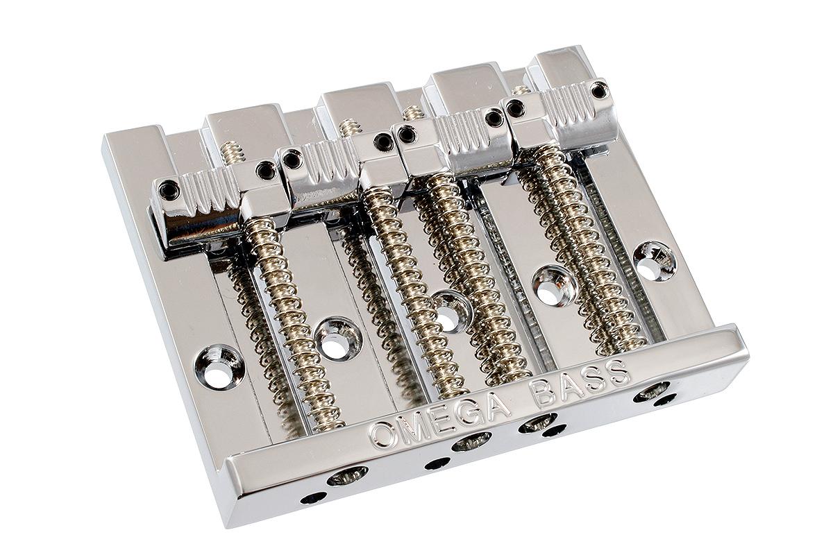 ベース用ブリッジ BADASSコピー Omega Bass Bridge Grooved for 4strings クローム バダス ブリッジ ベース