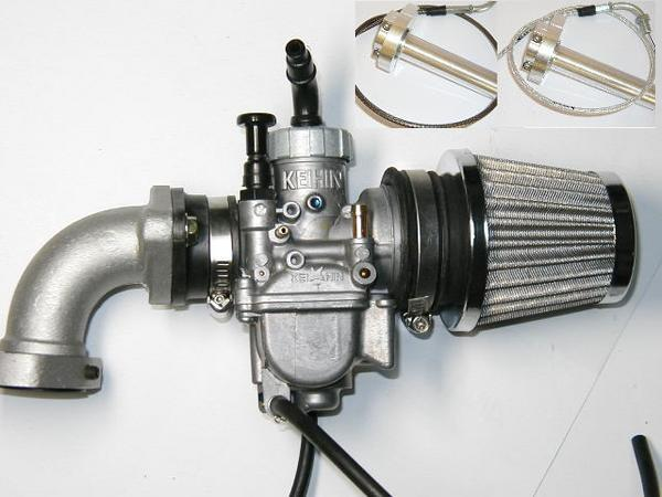 モンキー ビッグキャブキット PE24+回転マニ+フィルター+ハイスロ