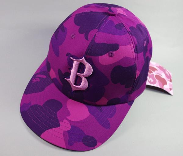 Bid Land Bape Ape B Logo Baseball Cap Purple Camo