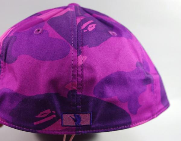 abf2cca0db4 Bid Land  BAPE ape B logo baseball cap purple Camo camouflage ...