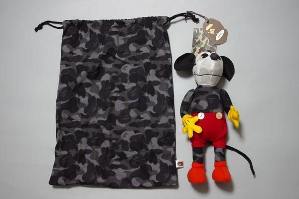 缝制エイプBA PE×迪斯尼Disney米老鼠MICKEYMOUSE,并且是ぐるみ