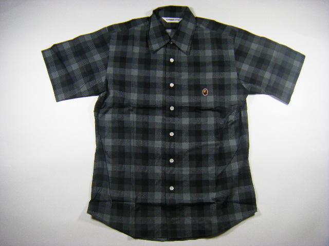 APE エイプ ブロック チェック 半袖 シャツ