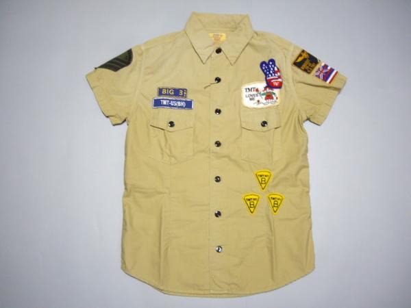TMT ハワイバック刺繍半袖シャツ S