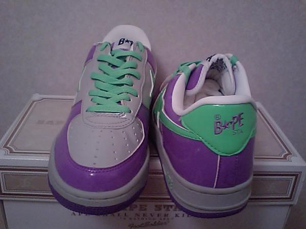 销售价格: 沐浴猿运动鞋猿猿 BAPE STA 搪瓷紫色灰色绿色 D10