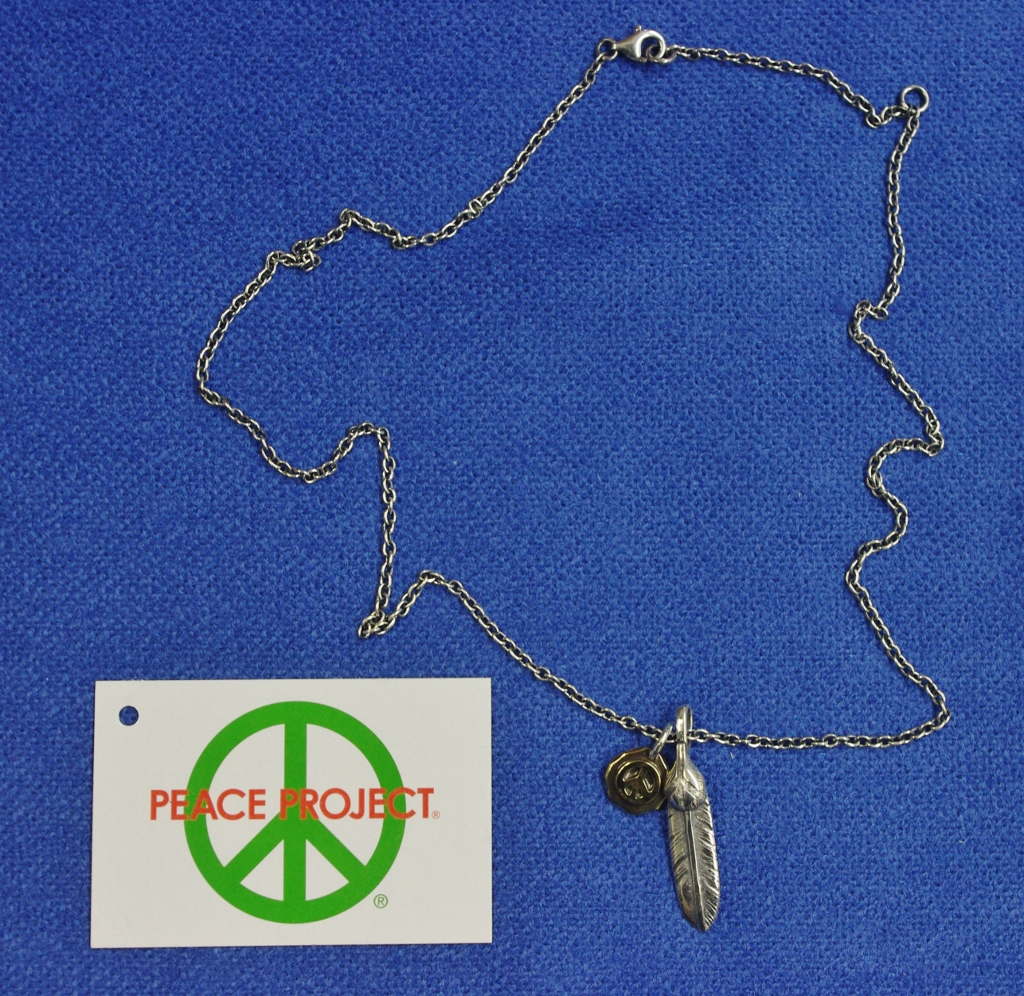 ジャムホームメイドJAM HOME MADE PEACE PROJECT PJ FEATHER NECKLACE S