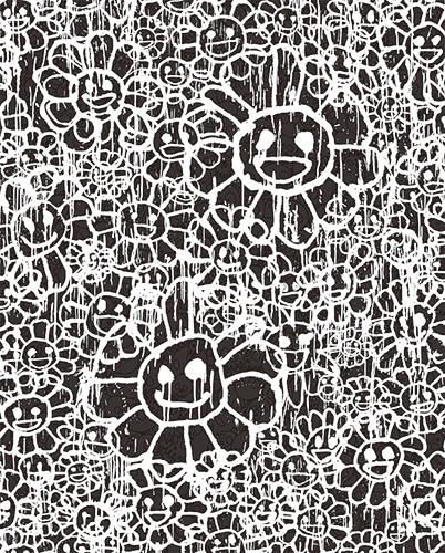 MURAKAMI × MADSAKI(村上隆 マッドサキ)コラボ限定版画「マサキフラワー版画 黒(仮)」 カイカイキキ kaikaikiki TAKASHI MURAKAMI FLOUR