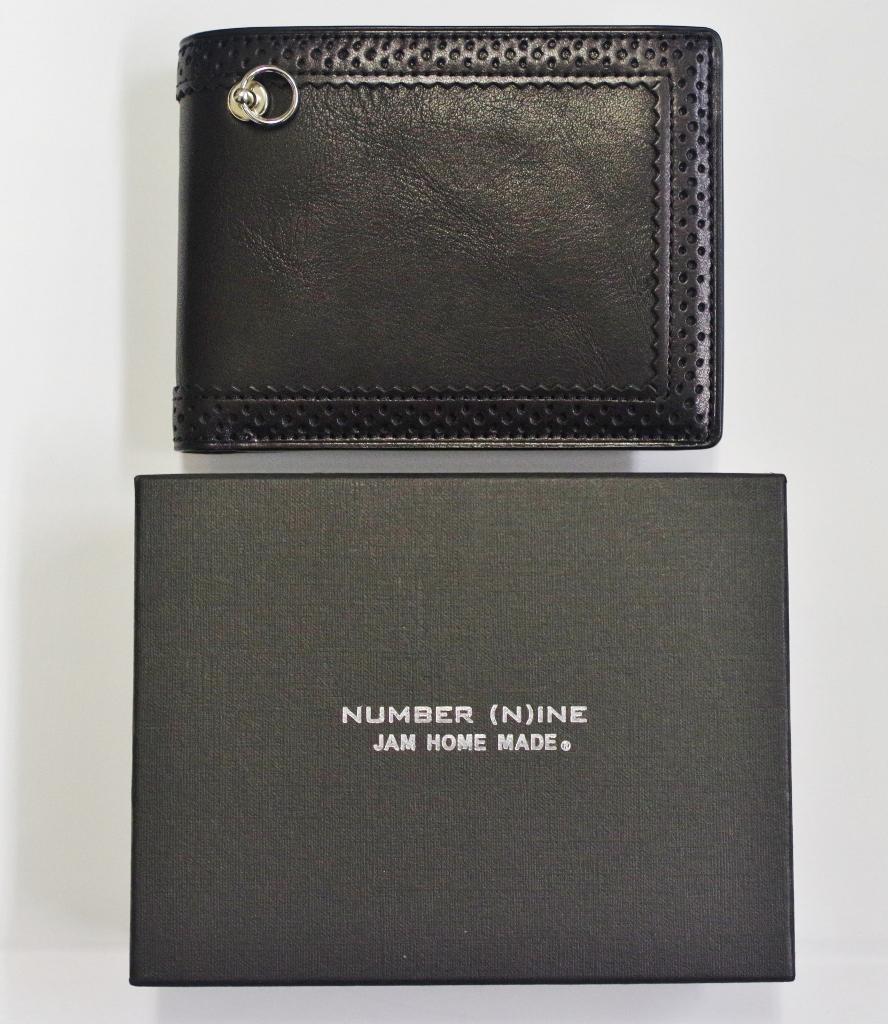 JAM HOME MADE(ジャムホームメイド)×NUMBER(N)INE(ナンバーナイン) 二つ折りレザーウォレット 財布 黒