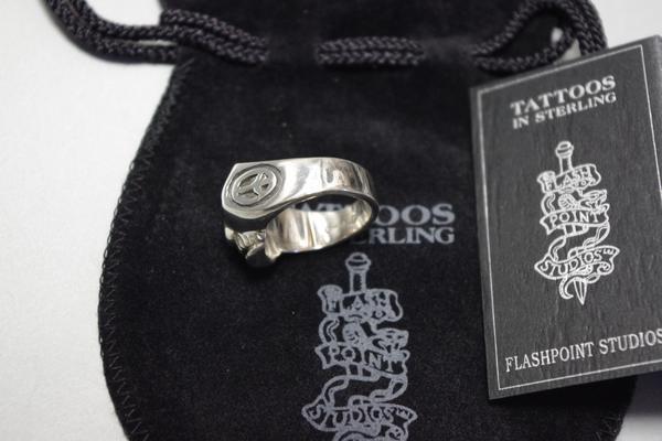 Flash point limited edition ring gym skull US9 piece / Johnny Depp