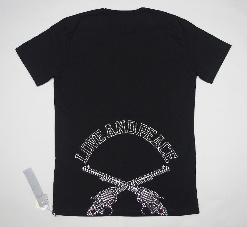 ロアーroar LOVE AND PEACE二丁拳銃METALメタルPISTOL Tシャツ