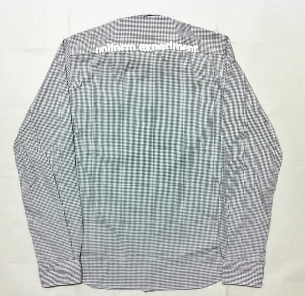 【特価】uniform experiment BACK PRINT GINGHAM CHECK B.D SHIRTシャツ