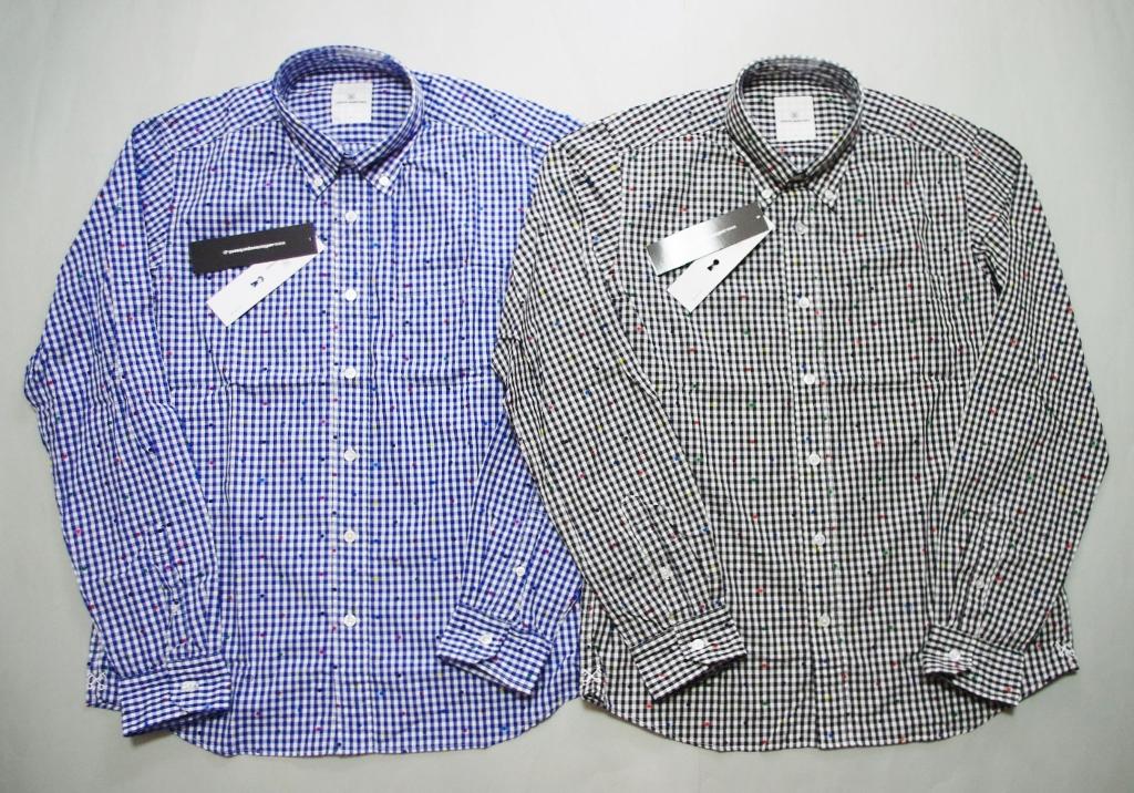 uniform experiment COLOR CHART DOT B.D SHIRT ドットチェックシャツ