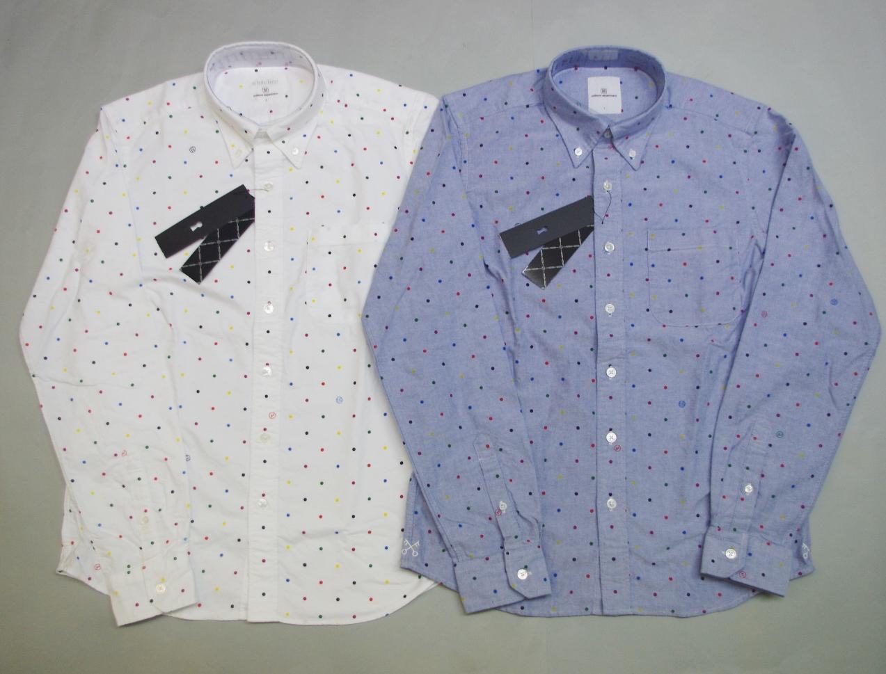 SHIRT ドットシャツ COLOR uniform B.D DOT 特価 experiment