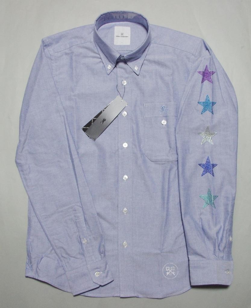 特価 uniform experiment 長袖星B.D SHIRTシャツ