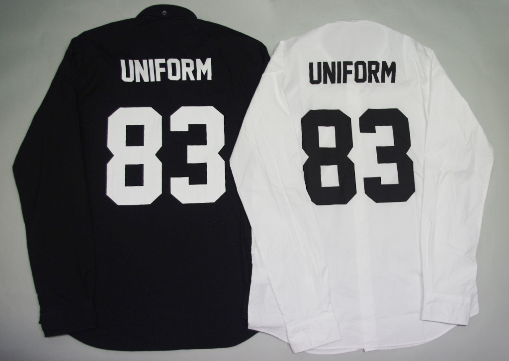 uniform experiment UE NUMBERING B.D SHIRT シャツUE