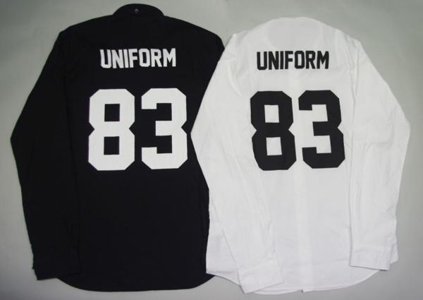 uniform experiment UE 83 NUMBERING B.D SHIRT シャツ