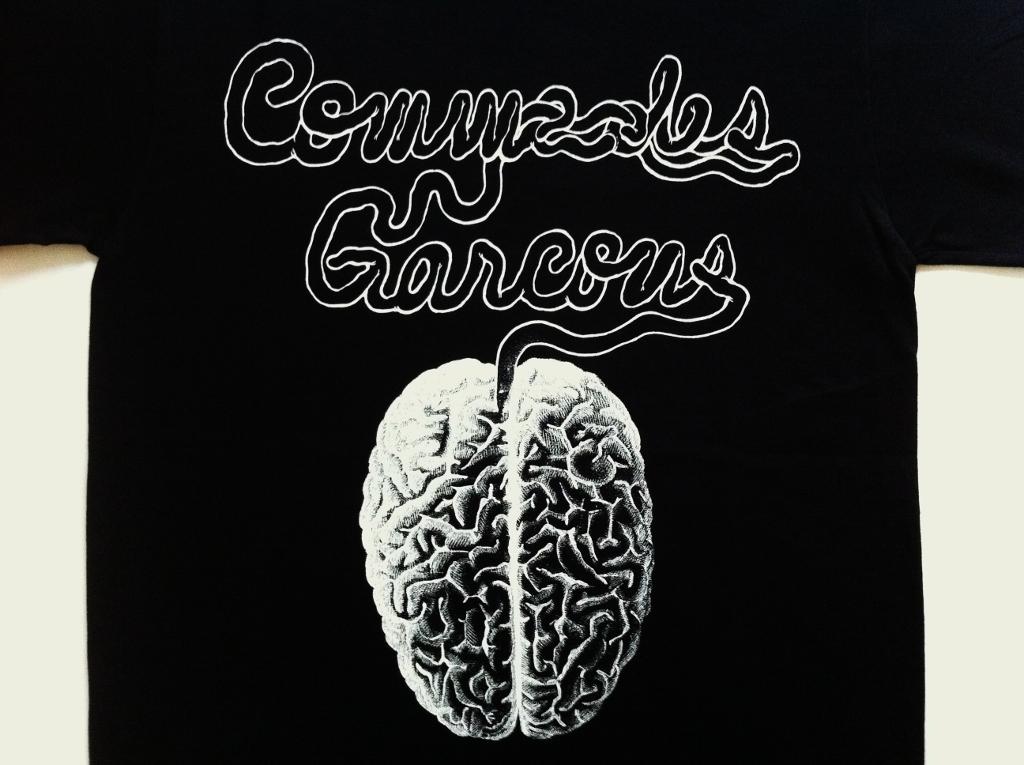 UNDERCOVER (언더 커버) × COMME des GARCONS (컴 드 르 손) 콜라 보 레이 션 한정판 T 셔츠 뇌