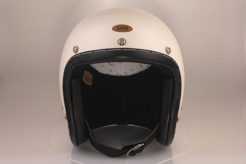 SG規格 排気量無制限 セール価格 高品質 JET HELMET SHM BLACK LEATHER STITCH HAND Lot-104IVORY