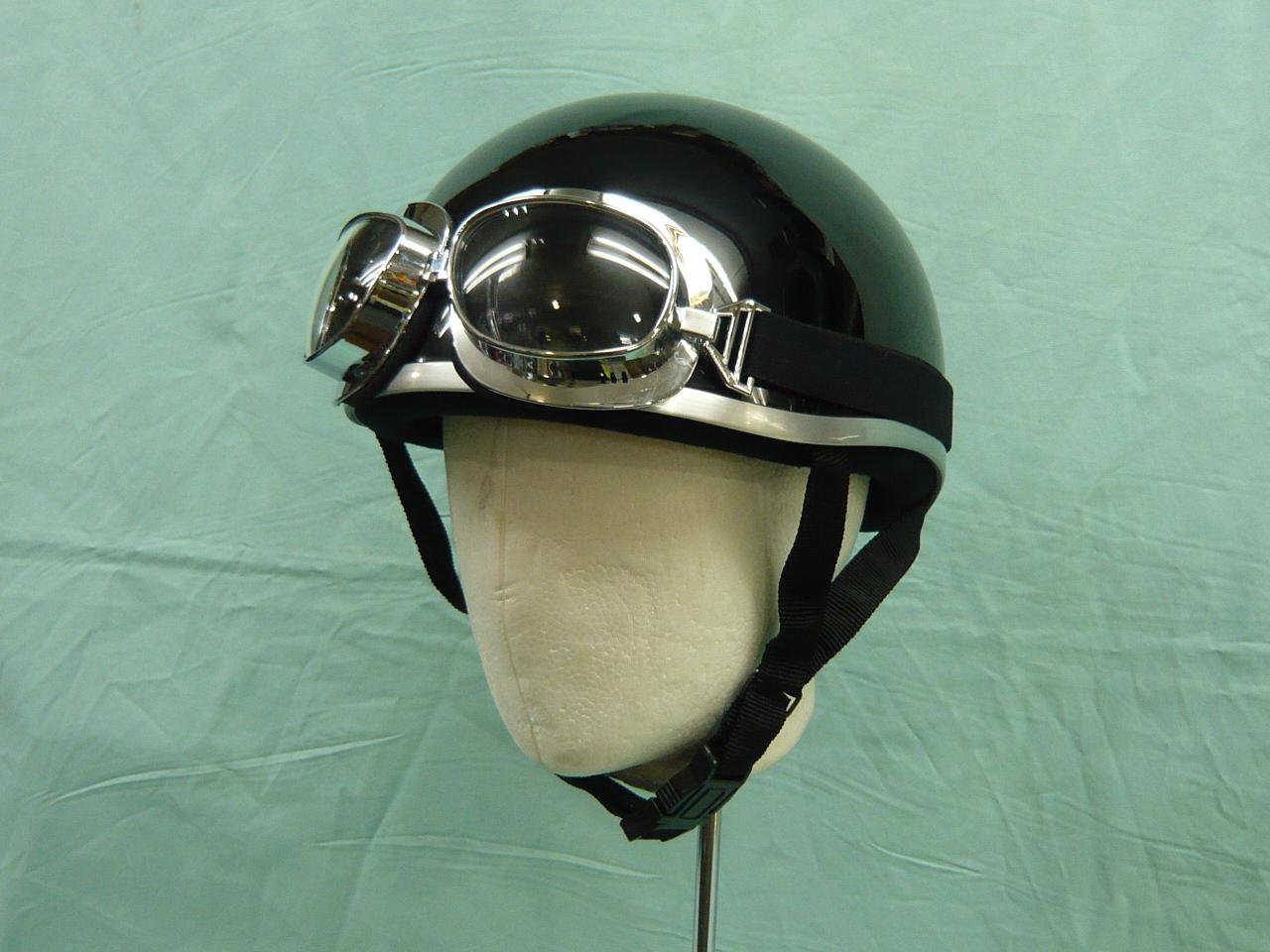 ニューモデル ハーフタイプ 半キャップに付けるだけでヘルメットがグンと格好良くなる ファッションゴーグルビンテージルック004 手軽でオシャレな便利アイテム 価格 交渉 送料無料 高い素材