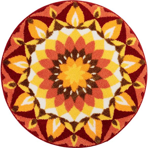 Rugs, Such As Scandinavian Modern Stylish Round Rug Mat New GRUND Sun  Sunset Design Mandala