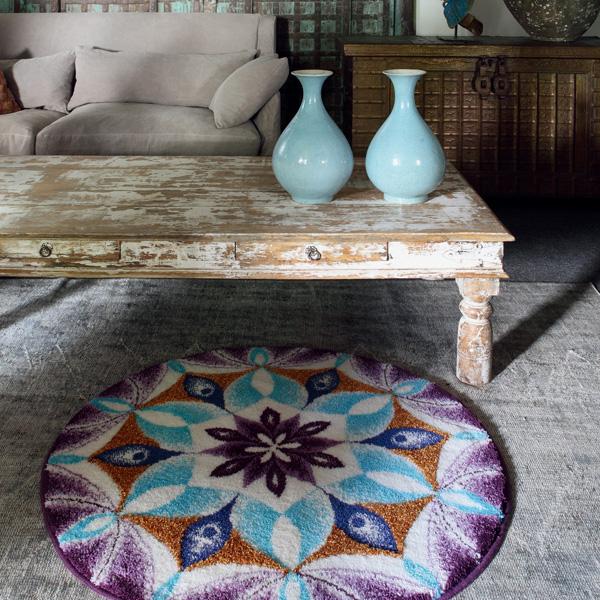 Victoria S Souk Rug: BigOne: Scandinavian Modern Stylish Round Rug Mat New