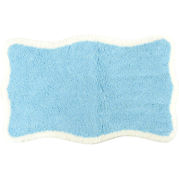 Room washable stylish bath mat fast-dry light blue light blue white white pastel color refreshing GRUND new work natural antibacterial water absorption-maru washing OK