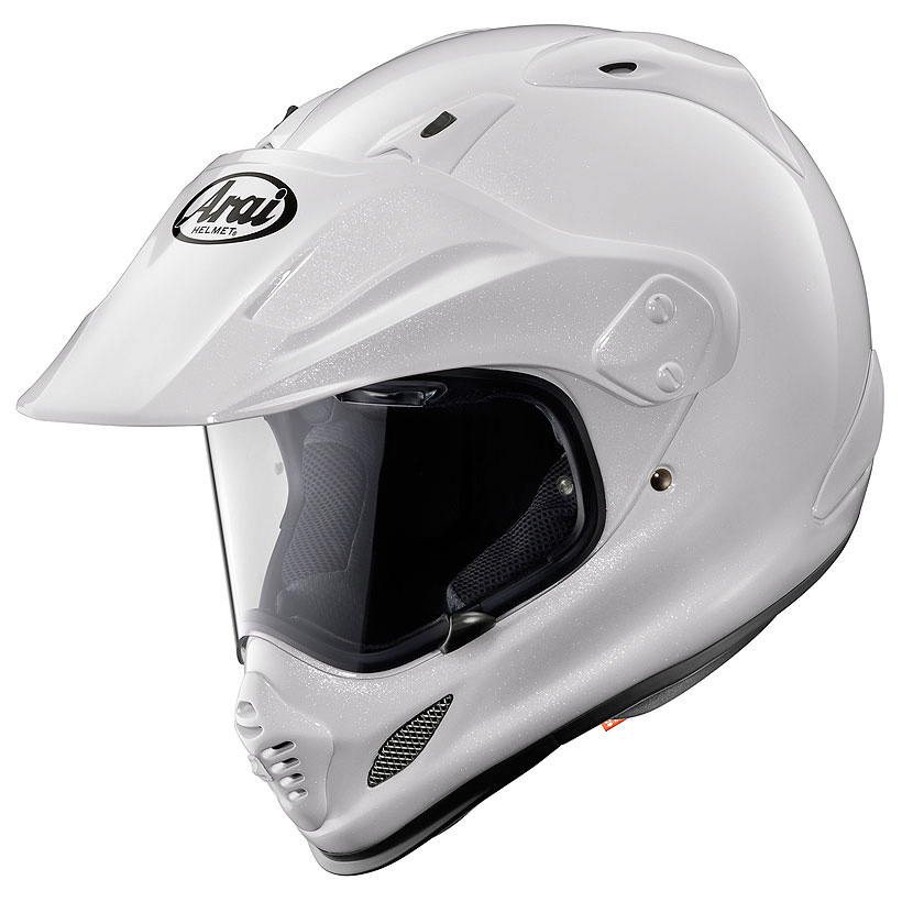 【ヘルメット】 ARAI TOUR CROSS 3 GLASS WHITE 61-62 (XLサイズ) オフロード アライ ツアークロス3 Gホワイト