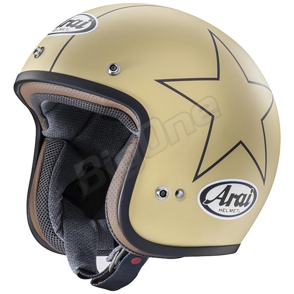 【ヘルメット】ARAI CLASSIC-MOD STARS CAMEL (つや消し) 57-58cm アライ ジェットヘル クラシックモッド スターズ キャメル オープンフェイス