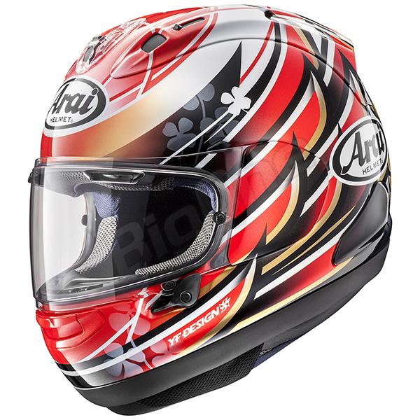 【ヘルメット】ARAI RX-7X NAKAGAMI 59-60cm アライ フルフェイス アールエックスセブンエックス ナカガミ REPLICA レプリカ 中上貴晶