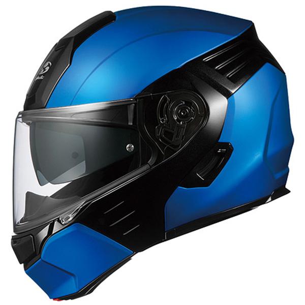 【フルフェイス】【カブト】【カザミ】【バイク用品】風を味方に。鎧うが如しデザイン、システムヘルメット 【ヘルメット】 OGK KAZAMI フラットブルー/ブラック Mサイズ フルフェイス オージーケー カザミ システムヘルメット