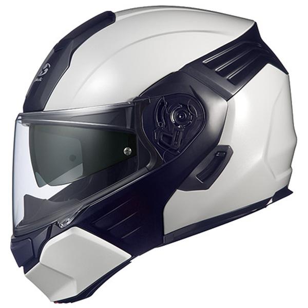 【ヘルメット】 OGK KAZAMI ホワイトメタリック/ブラック Sサイズ フルフェイス オージーケー カザミ システムヘルメット
