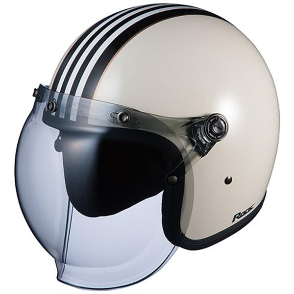 【ヘルメット】 OGK ROCK G1 ホワイトブラック 白黒 フリーサイズ FREE ジェットヘル オージーケー ロック