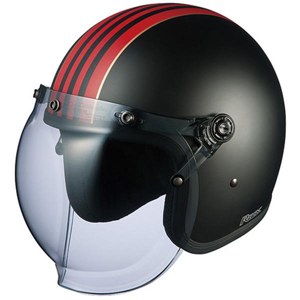 【ヘルメット】 OGK ROCK G1 フラットブラックレッド フリーサイズ FREE ジェットヘル オージーケー ロック