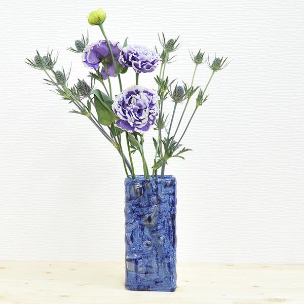 Bigone Rakuten Global Market Flower Vase 20 Cm Czech Dark Blue