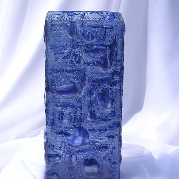 Bigone Rakuten Global Market Flower Vase 30 Cm Czech Dark Blue