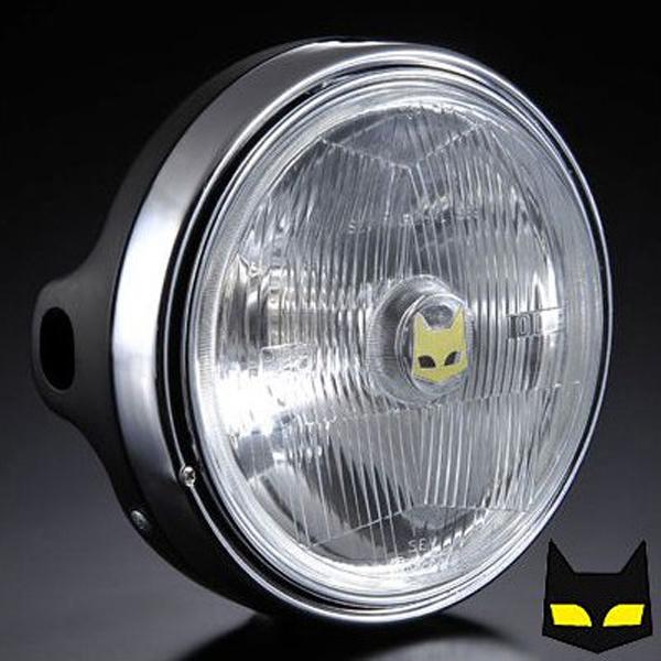 マーシャル 【カワサキ用ヘッドライト】 889 ドライビングランプフルキット クリアレンズ ブラックケース Z1 Z2 750RS Z900 KZ900 Z400FX Z550FX Z750F Z750Four Z750FX