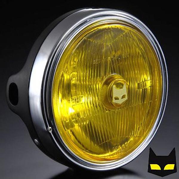 マーシャル 【カワサキ用ヘッドライト】 889 ドライビングランプフルキット イエローレンズ ブラックケース Z1 Z2 750RS Z900 KZ900 Z400FX Z550FX Z750F Z750Four Z750FX