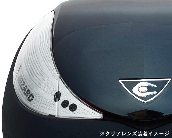 【リアボックス】 COOCASE クーケース V36 ウィザード SPEC-F2 メタリックブラック クリアレンズ仕様 36L CN36013