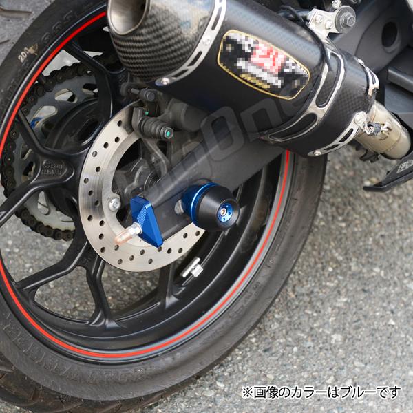 YZF-R25 YZF-R3 MT-25 MT-03 rear axle slider titanium color rear swing arm guard