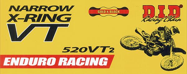 【チェーン】 DID 520VT2-110ZB G&B ゴールド ブラック チェーン 520-110