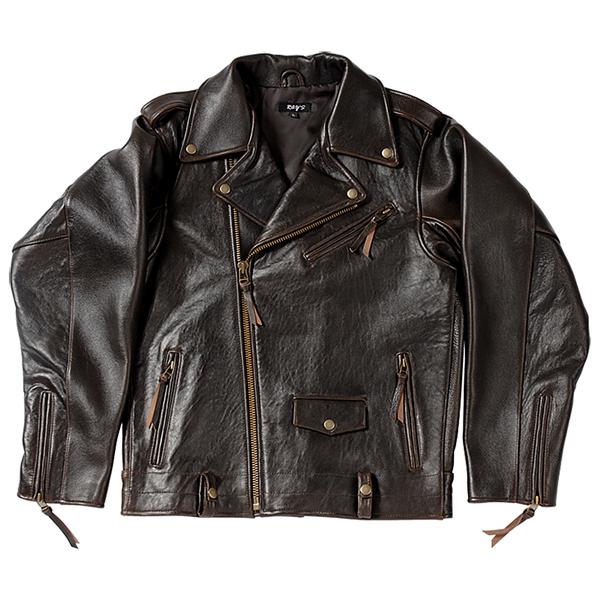 【訳あり】【ジャケット】本革 ダブル レザージャケット Lサイズ ダブルジャケット 革ジャン ライダースジャケット