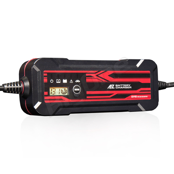 【バッテリー】AZ バッテリーチャージャー ACH-450 4.5A 鉛専用充電器 12V 2~120Ah対応