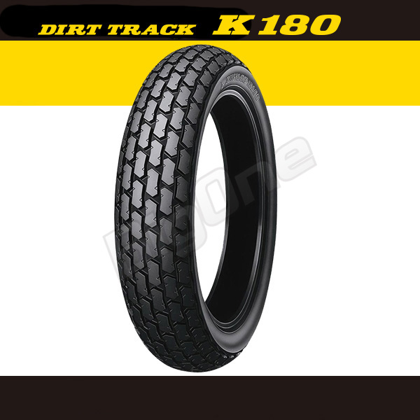 Dunlop DUNLOP K180 around common 120 / 90-10 57 J TL 120-90-10 DIRT TRACK both front & rear