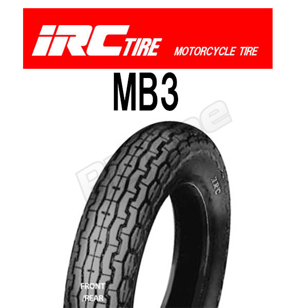 IRC MB3 around 12,199N common tire 3.50-10 4PR WT front wheel front desk FRONT rear wheel rear REAR combined use tube type